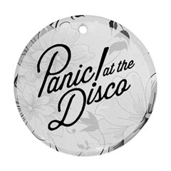 Panic At The Disco Flowers Round Ornament (two Sides)