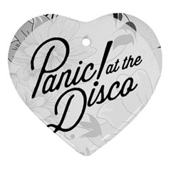Panic At The Disco Flowers Heart Ornament (two Sides)