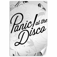 Panic At The Disco Flowers Canvas 12  X 18