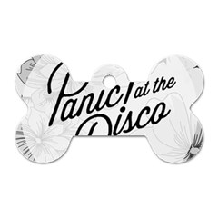 Panic At The Disco Flowers Dog Tag Bone (one Side)