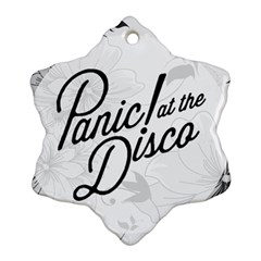 Panic At The Disco Flowers Ornament (snowflake)