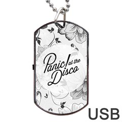 Panic At The Disco Flowers Dog Tag Usb Flash (two Sides)