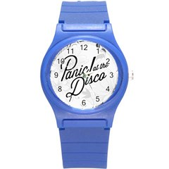Panic At The Disco Flowers Round Plastic Sport Watch (s)