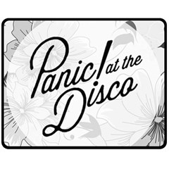 Panic At The Disco Flowers Double Sided Fleece Blanket (medium)