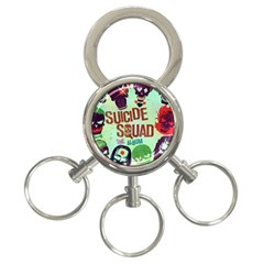 Panic! At The Disco Suicide Squad The Album 3 Ring Key Chains