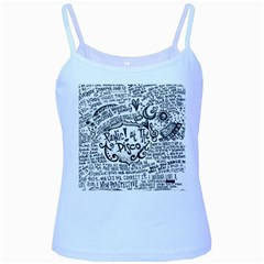 Panic! At The Disco Lyric Quotes Baby Blue Spaghetti Tank