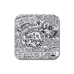 Panic! At The Disco Lyric Quotes Rubber Square Coaster (4 Pack)
