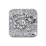 Panic! At The Disco Lyric Quotes Rubber Square Coaster (4 pack)  Front