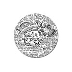 Panic! At The Disco Lyric Quotes Magnet 3  (Round) Front