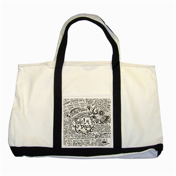 Panic! At The Disco Lyric Quotes Two Tone Tote Bag
