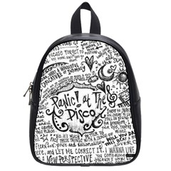 Panic! At The Disco Lyric Quotes School Bag (small)