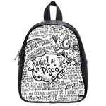 Panic! At The Disco Lyric Quotes School Bag (Small) Front