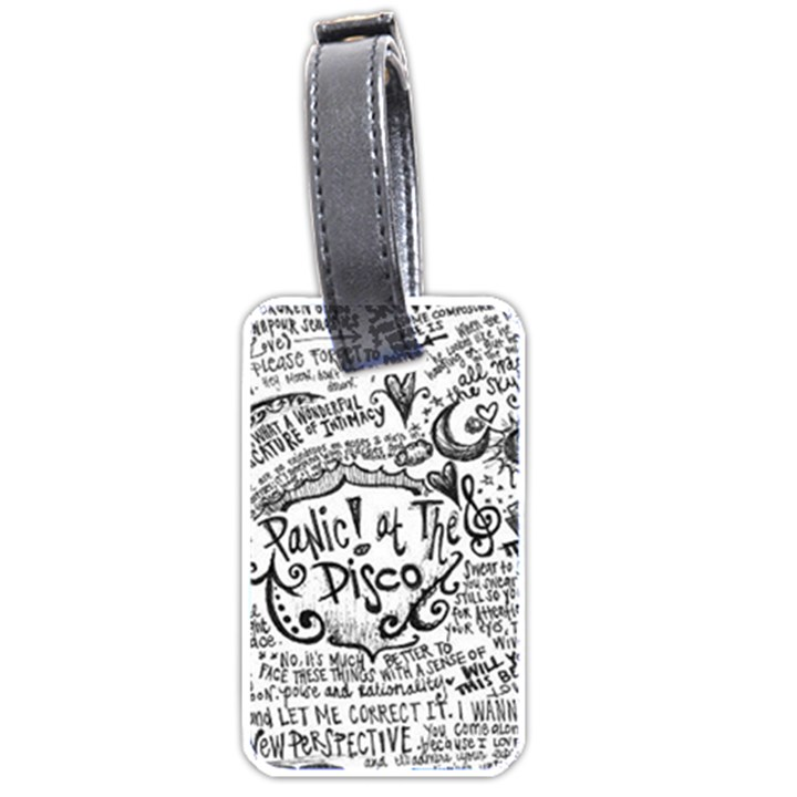 Panic! At The Disco Lyric Quotes Luggage Tags (One Side)