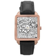 Panic! At The Disco Lyric Quotes Rose Gold Leather Watch
