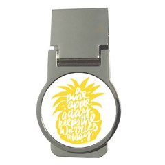 Cute Pineapple Yellow Fruite Money Clips (round)