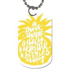 Cute Pineapple Yellow Fruite Dog Tag (two Sides)