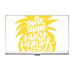 Cute Pineapple Yellow Fruite Business Card Holders