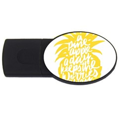 Cute Pineapple Yellow Fruite Usb Flash Drive Oval (2 Gb)