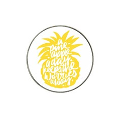 Cute Pineapple Yellow Fruite Hat Clip Ball Marker (4 Pack)