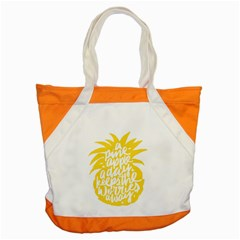 Cute Pineapple Yellow Fruite Accent Tote Bag