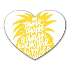 Cute Pineapple Yellow Fruite Heart Mousepads