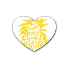 Cute Pineapple Yellow Fruite Heart Coaster (4 Pack)