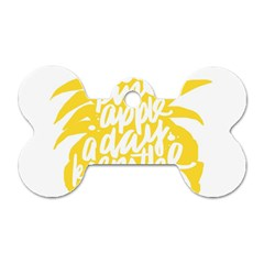 Cute Pineapple Yellow Fruite Dog Tag Bone (two Sides)
