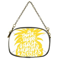 Cute Pineapple Yellow Fruite Chain Purses (one Side)