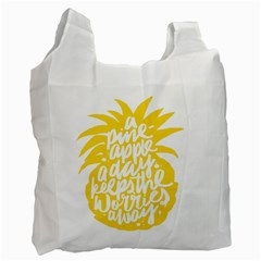 Cute Pineapple Yellow Fruite Recycle Bag (one Side)