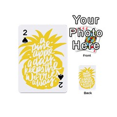 Cute Pineapple Yellow Fruite Playing Cards 54 (mini)