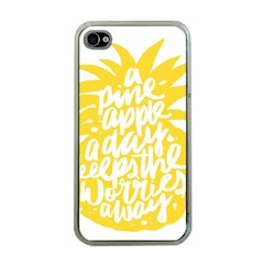 Cute Pineapple Yellow Fruite Apple Iphone 4 Case (clear)