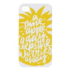 Cute Pineapple Yellow Fruite Apple Iphone 4/4s Hardshell Case