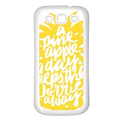 Cute Pineapple Yellow Fruite Samsung Galaxy S3 Back Case (white)