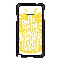 Cute Pineapple Yellow Fruite Samsung Galaxy Note 3 N9005 Case (black)