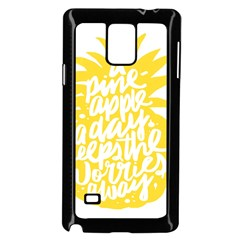 Cute Pineapple Yellow Fruite Samsung Galaxy Note 4 Case (black)