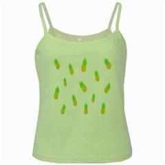 Cute Pineapple Fruite Yellow Green Green Spaghetti Tank