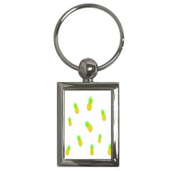 Cute Pineapple Fruite Yellow Green Key Chains (rectangle)