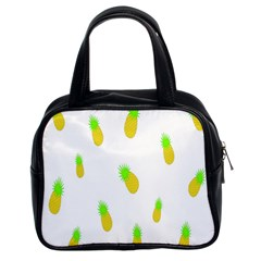 Cute Pineapple Fruite Yellow Green Classic Handbags (2 Sides)