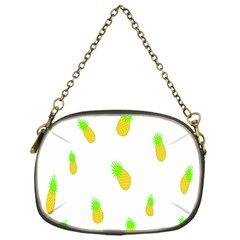 Cute Pineapple Fruite Yellow Green Chain Purses (one Side)