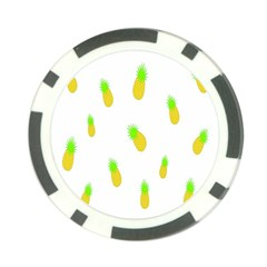 Cute Pineapple Fruite Yellow Green Poker Chip Card Guard (10 Pack)