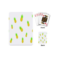 Cute Pineapple Fruite Yellow Green Playing Cards (mini)