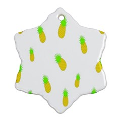 Cute Pineapple Fruite Yellow Green Ornament (snowflake)