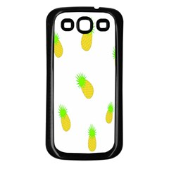 Cute Pineapple Fruite Yellow Green Samsung Galaxy S3 Back Case (black)