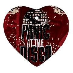 Panic At The Disco Poster Ornament (heart)