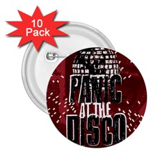 Panic At The Disco Poster 2 25  Buttons (10 Pack)