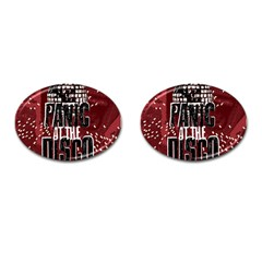 Panic At The Disco Poster Cufflinks (oval)