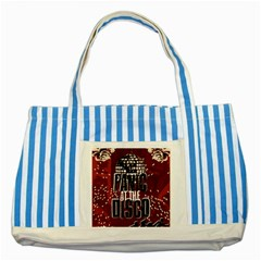 Panic At The Disco Poster Striped Blue Tote Bag