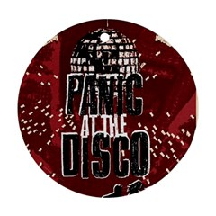Panic At The Disco Poster Round Ornament (two Sides)
