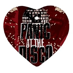 Panic At The Disco Poster Heart Ornament (two Sides)
