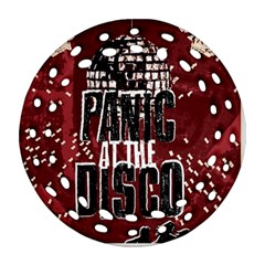 Panic At The Disco Poster Ornament (round Filigree)